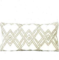 G Home Collection Handmade Textured Beaded Lumbar Pillow Color: Gold - Gold G, Pillow Texture, Home Collections, Lumbar Pillow, Pillows, Handmade, Color, Hand Made, Cushion