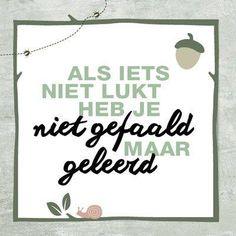 Niet falen maar leren   www.info-zin.nl   www.facebook.com/info.zin