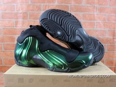 90b6e9f0855 Nike Air Flightposite One Northern Lights Black Green Glow Shoes Outlet