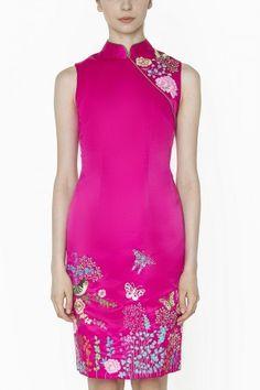 Winter Candy Dress - Modern fashion cheongsam by Sissae Oriental Fashion, Oriental Style, Candy Dress, Chinese Clothing, Cheongsam, Chinese Style, Modern Fashion, Traditional Dresses, Feminine