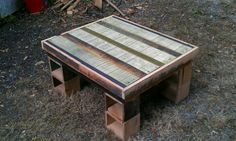 Reclaimed materials. Coffee table..