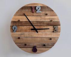 23.6 pulgadas rústico reloj de pared reloj de por StoriaDellOrso