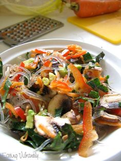 This raw kelp noodle chili salad is a quick, easy and delicious way to start using kelp noodles. It's fast, low-fat and so tasty and satisfying.