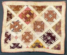 Child's Doll Quilt -Hole in The Barn Door- 1880's.