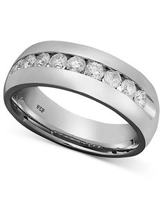 Perfect Men Diamond Wedding Band