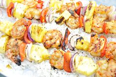 Shrimp Kabobs(my mom's recipe is probably better)  :)