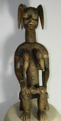 statue fétiche Dancôte d'ivoire art premier