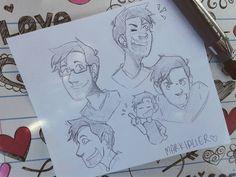 Markiplier doodles between classes✏