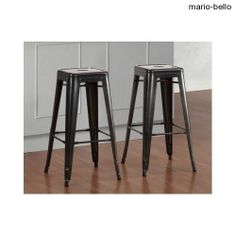 Kitchen Bar Stools Set of 2 Vintage Metal Counters or Tables, Black Grey, Yellow - Wanna make money LIKE this on eBay & Amazon in 24 Hours? Click this Link http://ebaymoney.mariobello.net to find out more! - Check out my eBay Specials @ http://ebay.mariobello.net – Thanks!