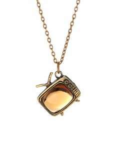 Love this Gold TV Pendant Necklace by ZAD on #zulily! #zulilyfinds8.99