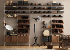 decor shelving systems wall mounted rakks shelving adjustable with regard to size 1900 x 1180 auf Wall Mount Shelf System Modular Shelving, Shelving Systems, Wall Mounted Shelves, Wood Shelves, White Shelves, Shoe Storage Shelf, Storage Ideas, Storage Shelving, String Regal