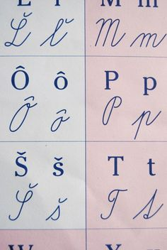 Confused when trying to read Slovak handwriting? Here's how to decipher Slovak cursive, including the whole Slovak alphabet. Handwriting Styles, Cursive, Family History, Alphabet, Street Style, Swag Dress, My Style, Diy Design, Dress Shoes