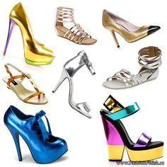Тренд 2013: Обувь цвета металлик