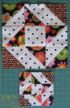 The Quartered Star Block Tutorial includes cutting and piecing instructions for completing both and finished blocks. The tutorial includes quick piecing methods to make the half-square triangles. Star Quilt Blocks, Quilt Block Patterns, Pattern Blocks, Quilting Tutorials, Quilting Projects, Quilting Designs, Patch Quilt, Half Square Triangle Quilts Pattern, Mini Quilts