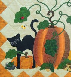 Autumn Harvest by Susan Haase, 2013 DVQG, design by Pearl Pereira.  Photo by Quilt Inspiration: Best of Halloween 2013 Part 3