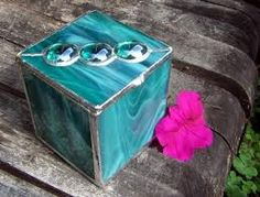 Etsy :: Sea Green Stained Glass Trinket Box