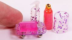 DIY Miniature Bath Accessories Set [a collab video]. Best Place To Buy Bathroom Accessories. 40973299 New Bathroom Set. Diy Doll Miniatures, Miniature Dolls, Doll House Crafts, Doll Crafts, Dollhouse Tutorials, Diy Dollhouse, Barbie Accessories, Bath Accessories, Diy Barbie Furniture