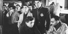 Jewish deportees at the Drancy transit camp outside Paris, from whence they would take trains to concentration camps.