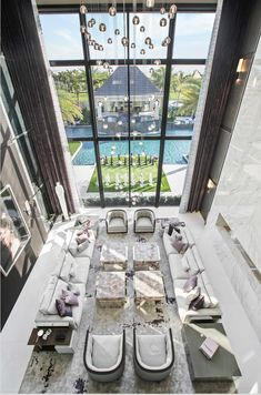 Get The Scoop On Luxury Mansions Interior Living Rooms Before You're Too Late 00129 - beterhome Best Modern House Design, Modern Home Interior Design, Luxury Home Decor, Luxury Homes, Interior Ideas, Modern Mansion Interior, Sala Grande, Luxury Penthouse, Floor To Ceiling Windows