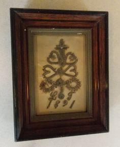 Antique Victorian Mourning Hair Art Framed | eBay