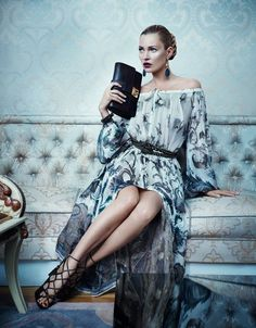 Kate Moss and Karmen Pedaru For Salvatore Ferragamo's Autumn/Winter 2012/13 Campaign