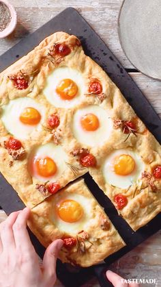 Breakfast Dishes, Breakfast Recipes, Good Food, Yummy Food, Simply Recipes, Sheet Pan, Food Videos, Food To Make, Easy Meals