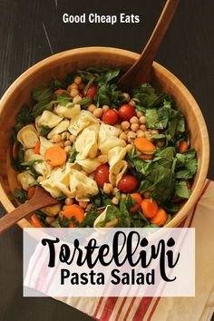 Tortellini Pasta Salad | Good Cheap Eats - Enjoy a quick and delicious Tortellini Pasta Salad full of fresh veggies and a vibrant dressing. It's perfect as a packable lunch, a fast main dish, or an easy side.