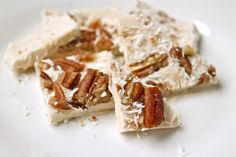 Maple Pecan Ice Cream Bites (dairy-free) - Healy Real Food Vegetarian (would like to try with unsweetened coconut and sf syrup.