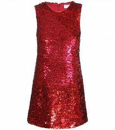 Dieses rote Pailletten-Kleid von Saint Laurent ist doch wie gemacht für ein gelungenes Silvester, oder? Dress to Party! #glamour #designer