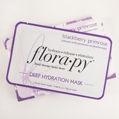 It's getting chilly! Keep your skin hydrated with our Blackberry Primrose Deep Hydration Mask #masktime #florapy #flowerpower #sheetmask