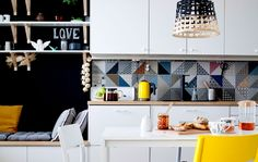 Kitchen makeover tips | Read all about how Tomas and Mili planned their modern and multifunctional METOD kitchen #IKEAIDEAS