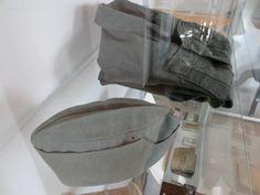 German uniform items made by prisoners for escape attempts. Schloss Colditz.
