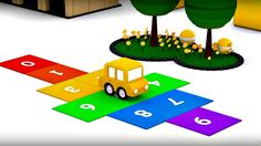 Dessin animé. Quatre voitures colorées - maths. Apprendre à compter. #vi...