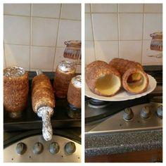 Trdelníky • recept • bonvivani.sk Pancakes, French Toast, Bread, Breakfast, Food, Basket, Morning Coffee, Brot, Essen