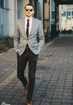 Live Action Getup: Havana Club Men's Spring Style Outfit Ideas – The Getup Havana Club Formal Attire For Men, Men Formal, Spring Fashion Outfits, Look Fashion, Grey Blazer Black Pants, Mens Club Outfit, Club Outfits, Bar Outfits, Vegas Outfits