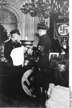 Baptism of a child born to a Lebensborn member, Germany, 1936, photo 3 of 4