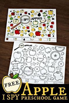 Apple Activities Kindergarten, Preschool Apple Theme, Fall Preschool, Math Activities, Preschool Activities, Apple Theme Classroom, Homeschool Kindergarten, Detective, September Themes