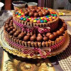 Resultado de imagen para torta galletas con ganache de chocolate blanco
