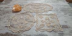 Lace Doilies, Crochet Doilies, Crochet Lace, Needle Lace, Table Toppers, Cotton Thread, Floral, Pattern, Handmade