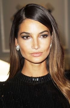 LIly Aldridge's soft ombre for brunettes