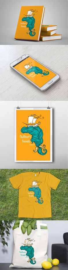 Gulliver's Travels - Book Cover on Behance