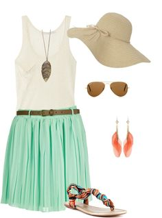 summer outing, created by madison-melaine on Polyvore