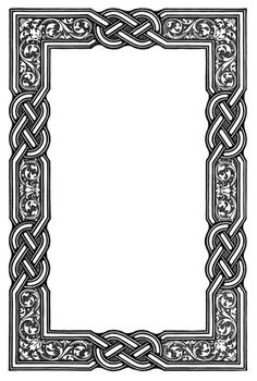 Good Celtic knotwork border for chip carving/wood burning. Page Borders, Borders And Frames, Celtic Symbols, Celtic Art, Celtic Knots, Celtic Dragon, Border Pattern, Border Design, Quilt Pattern