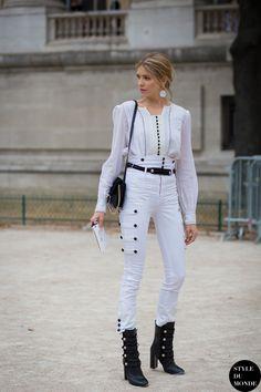 Lena's Marant moment. Paris. #ElenaPerminova