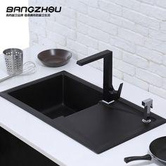 Menards Kitchen Sink & Bath 285 Best Home Fittings Images Bathroom Fixtures 邦州高端厨房洗碗池石英石水槽单槽带解冻板洗菜盆耐磨耐腐蚀