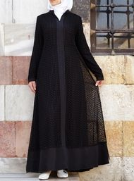 Add some sparkle to your look with our modest abaya gowns: elegant cuts, exquisite fabrics, and delicate details perfect for your special occasions Abaya Fashion, Fashion Dresses, Beautiful Gown Designs, Moslem Fashion, Hijab Style Dress, Black Abaya, Mode Abaya, Muslim Women Fashion, Abaya Designs
