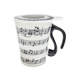Gift Garden Unique Coffee Mugs with Lid Staves Music Notes Staff Music, Music Notes, Ceramic Mug With Lid, Tea Cup With Lid, Craft Projects For Adults, Nail Polish Crafts, Plastic Pumpkins, Gift For Music Lover, Home