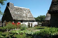 Pilgrim house at Plimoth Plantation 17th-Century English Village
