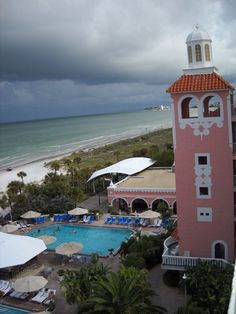 Home base for antique shopping in St. Petersburg Florida. The Don Cesar, St. Pete's Beach