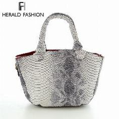 [ 21% OFF ] Herald Fashion Serpentine Patent Leather Tote Bag Small Women Shell Bag Vintage Women Messenger Bag Handbag Women Shoulder Bag
